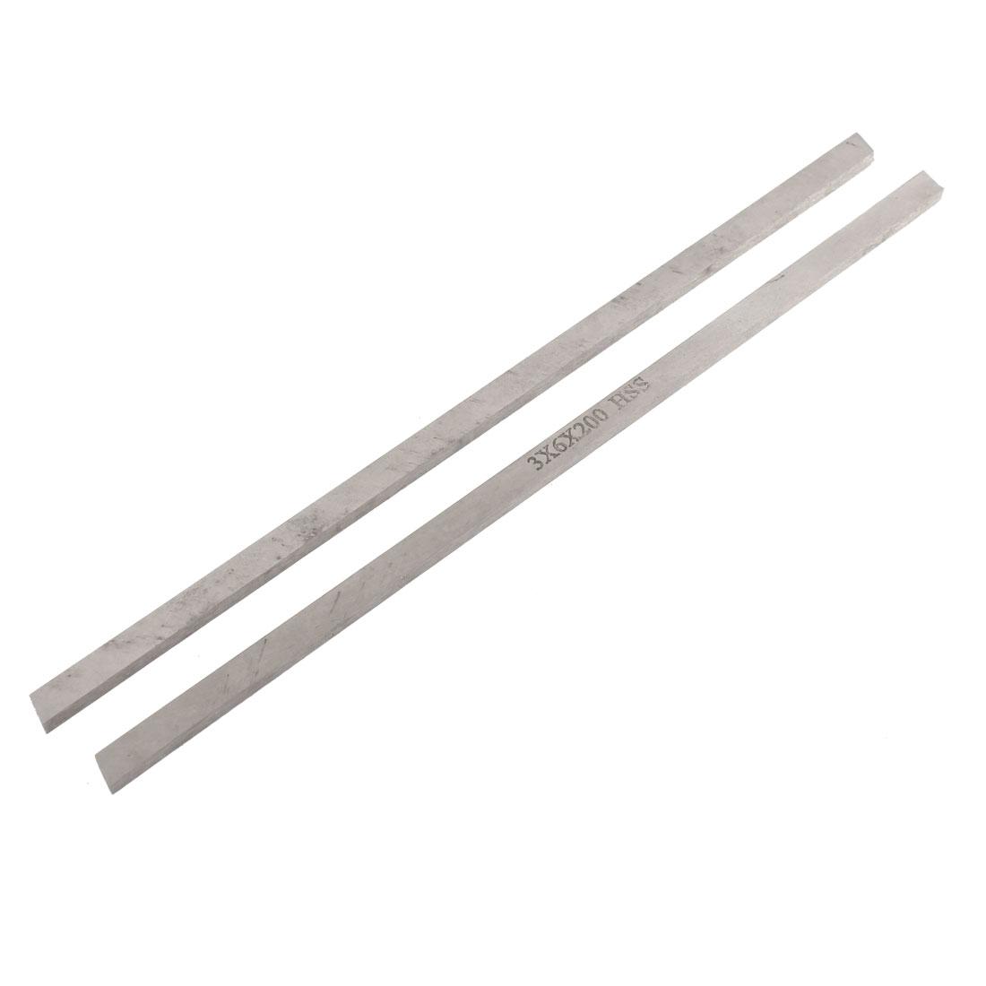 CNC Lathe HSS Parallelogram Bit Cutting Boring Bar Cutter Tool 3mmx6mmx200mm 2pcs
