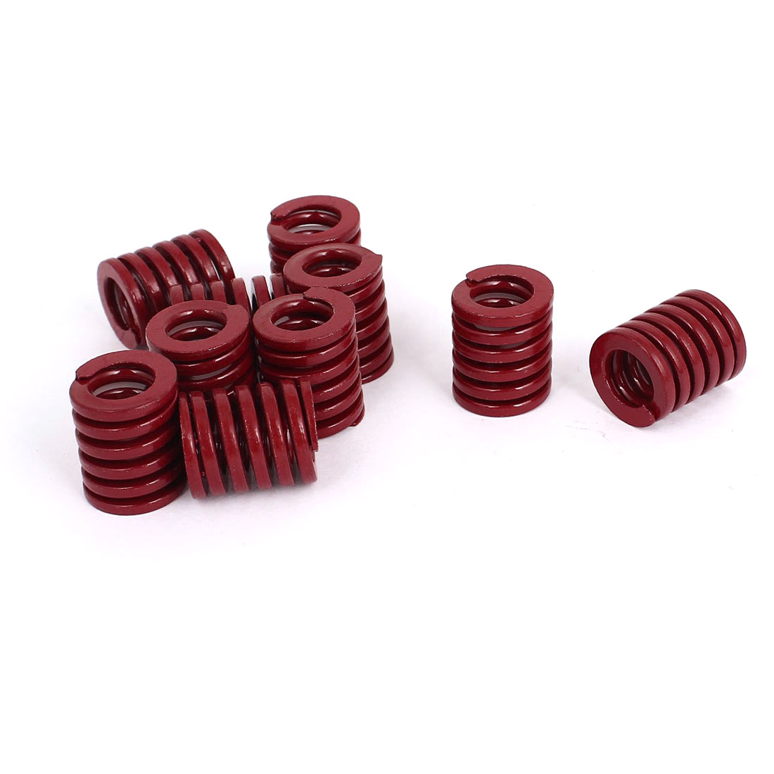 18mm OD 20mm Long Medium Load Stamping Compression Mold Die Spring Red 10pcs