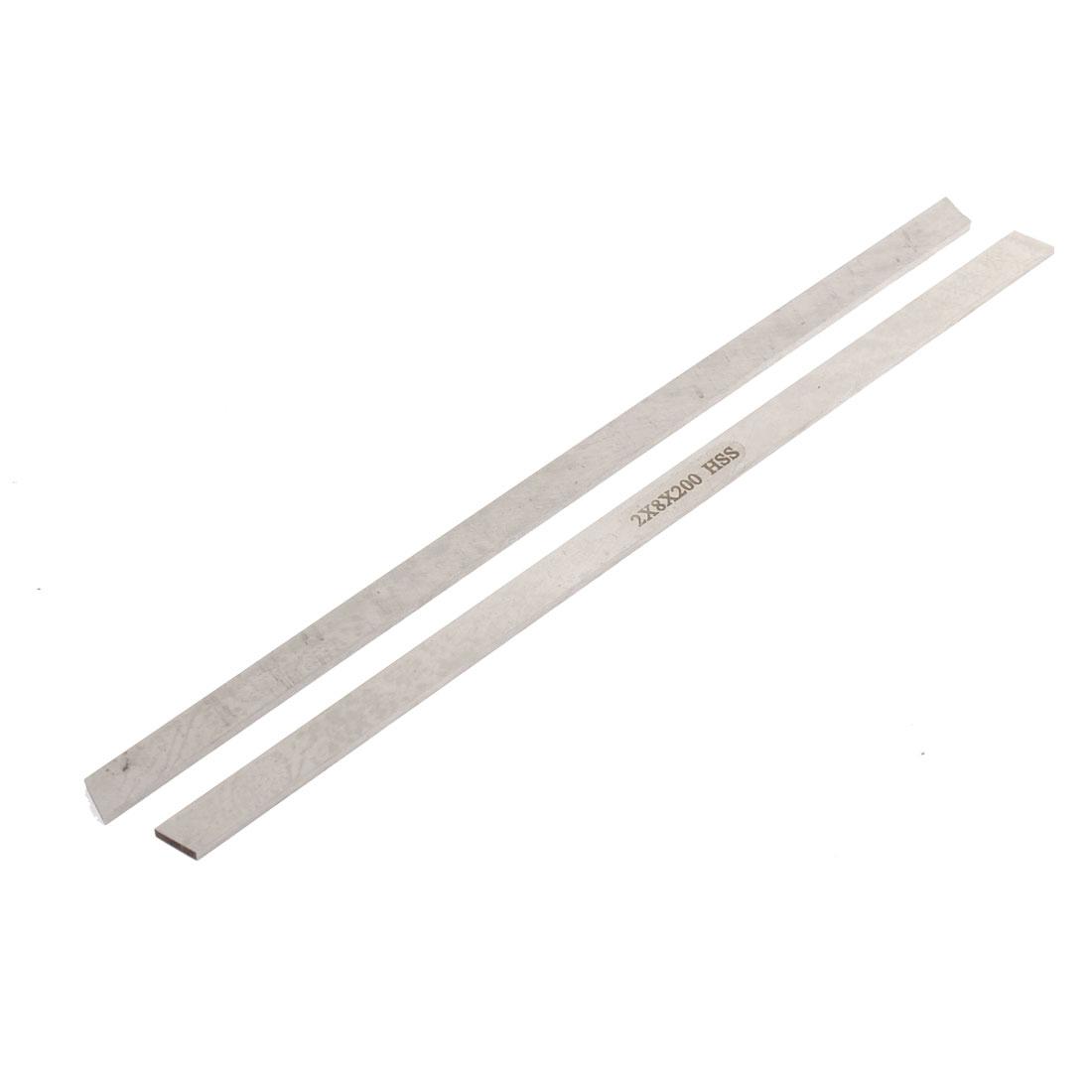 CNC Lathe HSS Parallelogram Bit Cutting Boring Bar Cutter Tool 2mmx8mmx200mm 2pcs