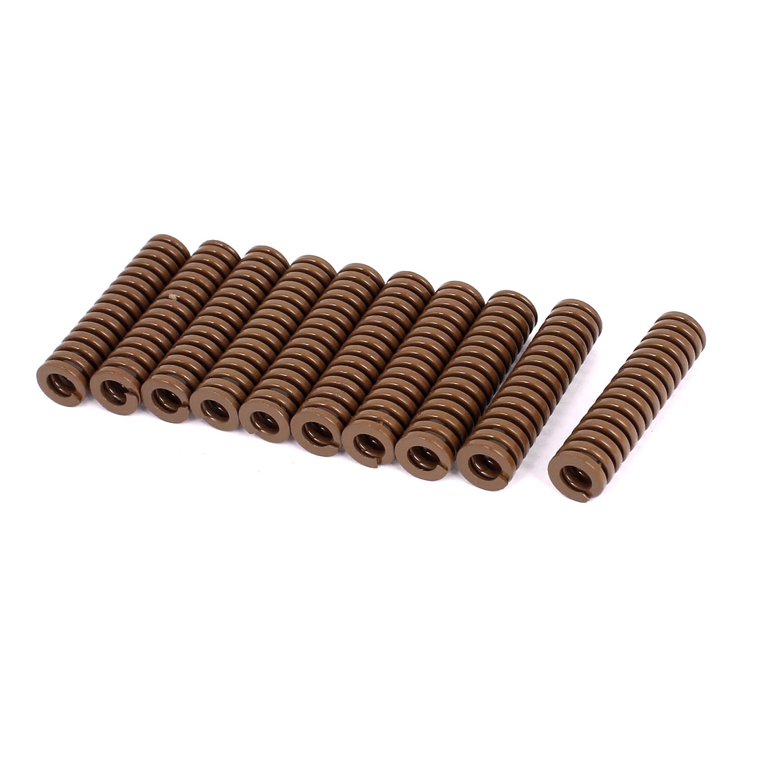 12mm OD 50mm Long Heavy Load Stamping Compression Mold Die Spring Brown 10pcs