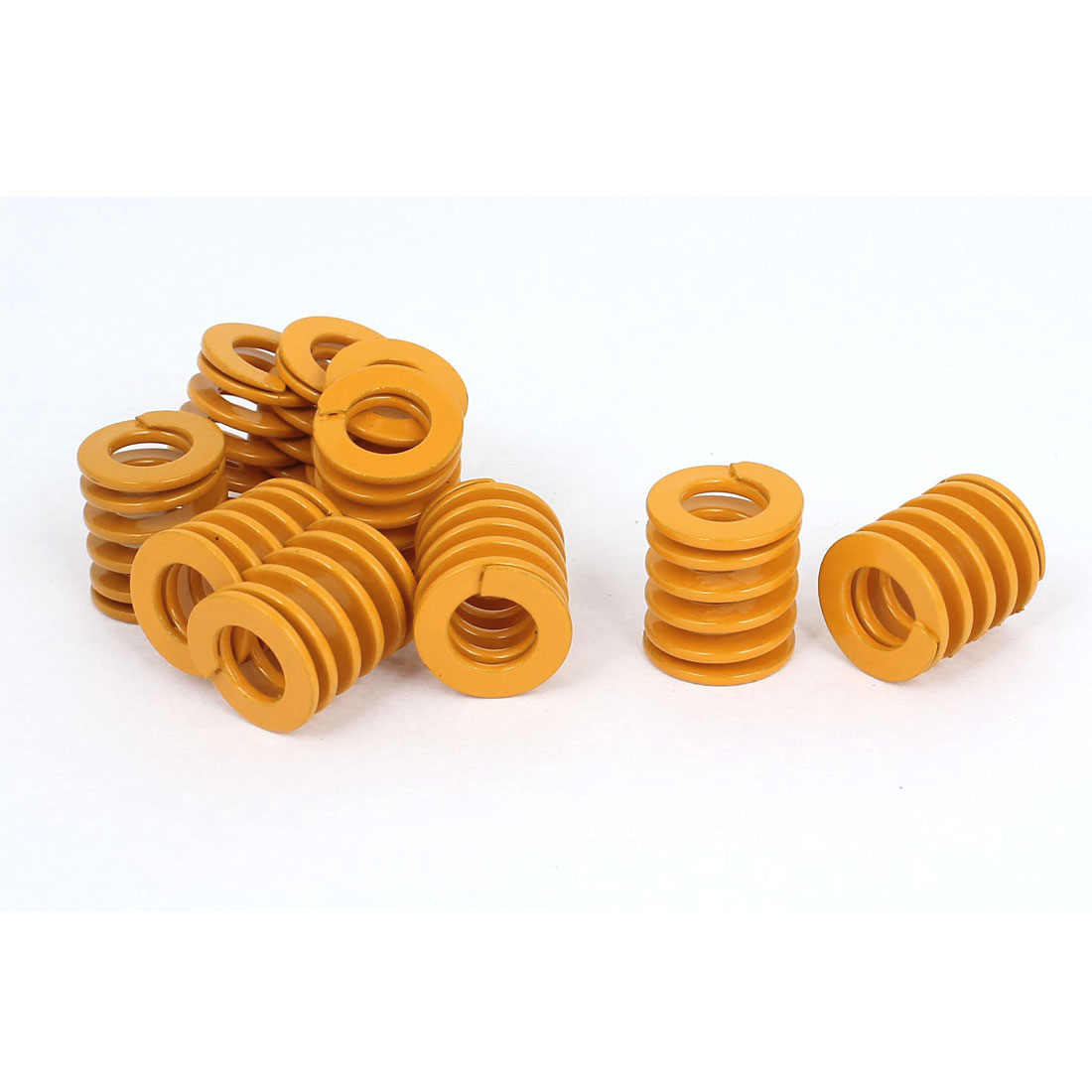 18mm OD 20mm Long Light Load Stamping Compression Mold Die Spring Yellow 10pcs