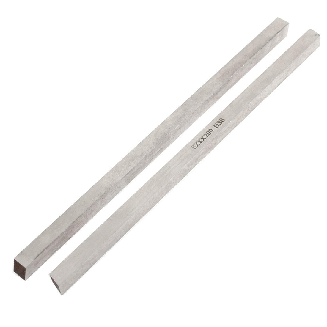 CNC Lathe HSS Bit Cutting Boring Bar Cutter Tool 8mmx8mmx200mm 2pcs
