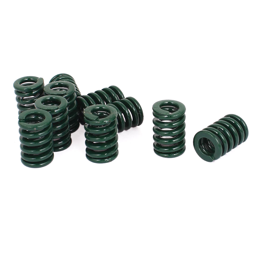 14mm OD 20mm Long Heavy Load Stamping Compression Mold Die Spring Green 10pcs