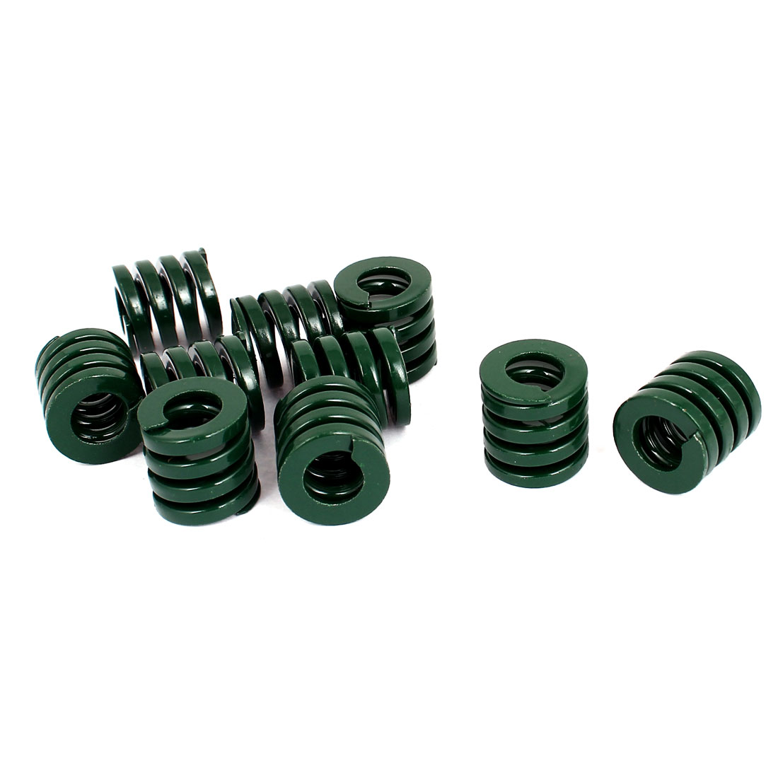 20mm OD 20mm Long Heavy Load Stamping Compression Mold Die Spring Green 10pcs