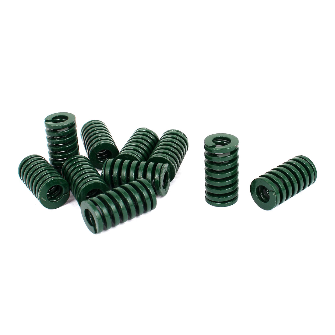 16mm OD 30mm Long Heavy Load Stamping Compression Mold Die Spring Green 10pcs