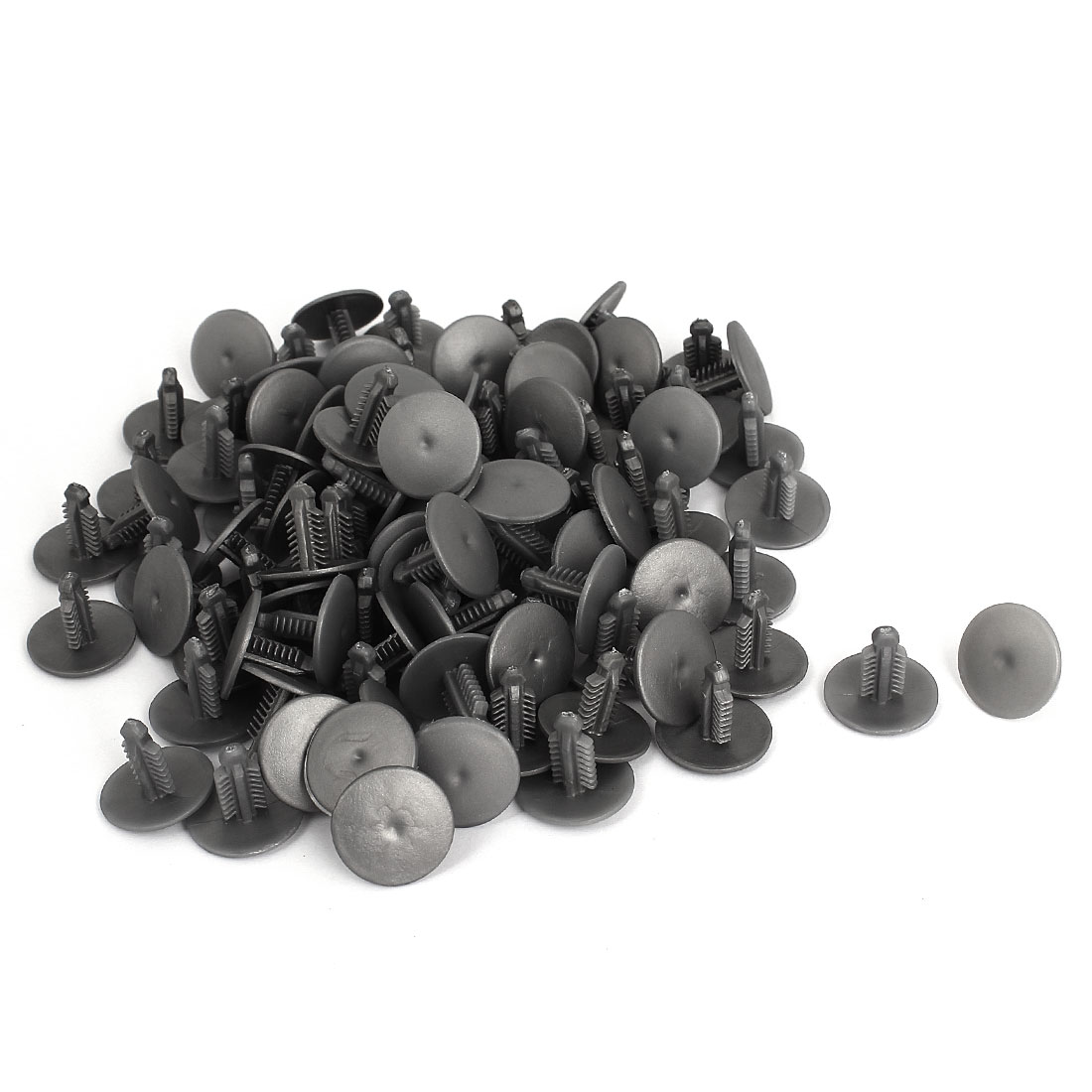 7mmx5mm Hole Gray Plastic Rivets Fastener Car Bumper Retainer Clips 100 Pcs