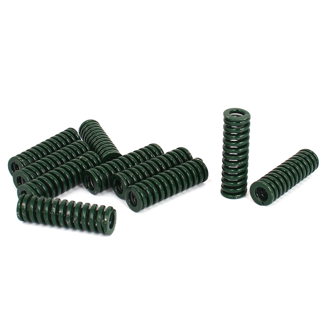 12mm OD 40mm Long Heavy Load Stamping Compression Mold Die Spring Green 10pcs