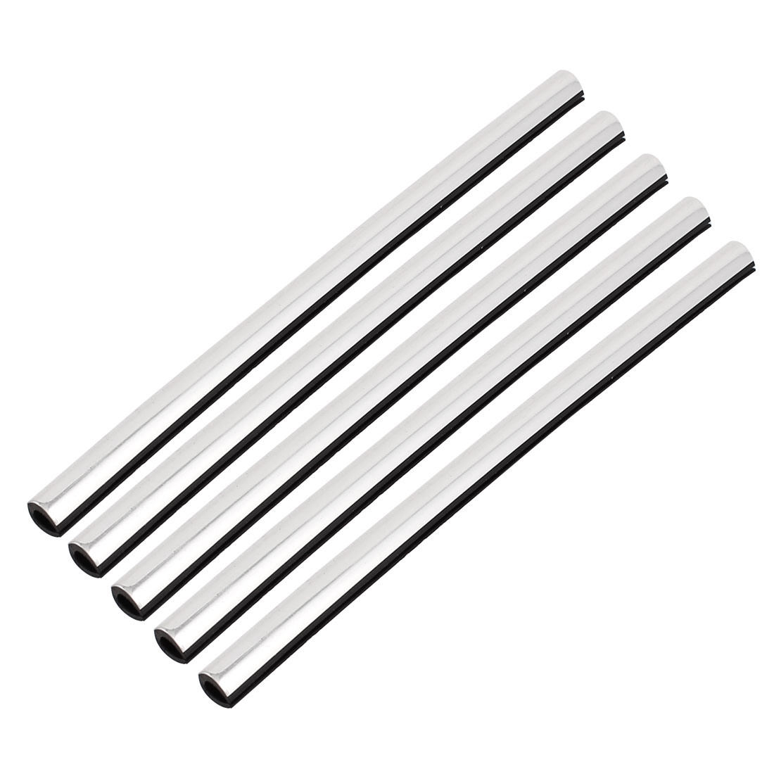 Car Auto Door Window Air Outlet Rubber U Channel Seal Strip Silver Tone 5 Pcs