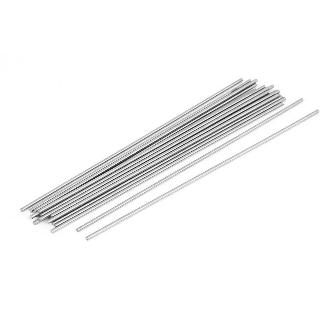 1.3mm Diameter 100mm Long Machine Boring Tool Steel Round Lathe Bars 20 Pcs