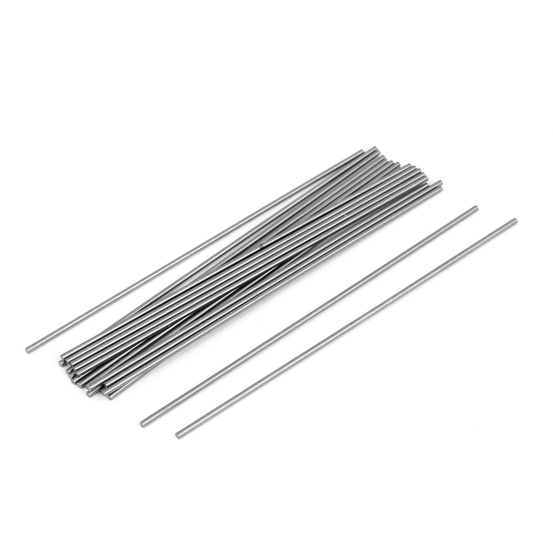 20 Pcs Silver Tone Steel Rod Round Stock Lathe Tools 1.4mm Diameter 100mm Long