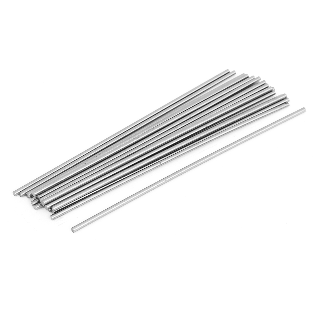 20 Pcs 1.8mm Dia 100mm Long Steel Round Stock Rod Lathe Tools Silver Tone