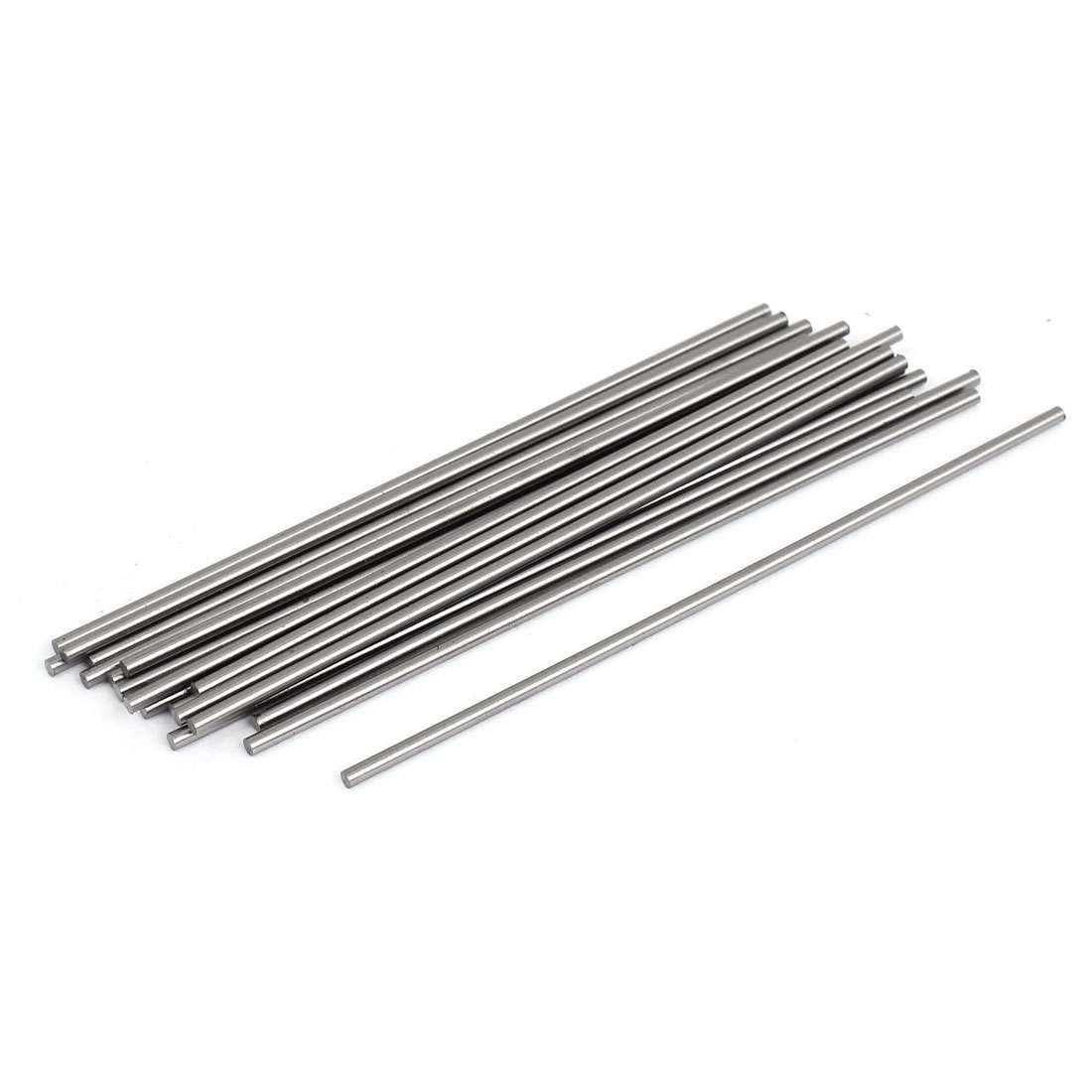 2mmx100mm Machine Grooving Tool Steel Lathe Bar Rods Silver Tone 20 Pcs