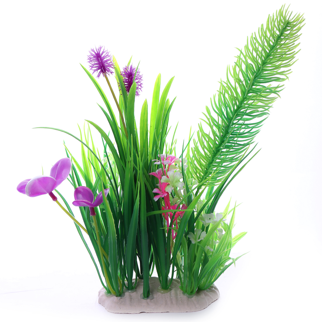 28cm long Multi Color Underwater Plastic Aquarium Decoration Plants Flower