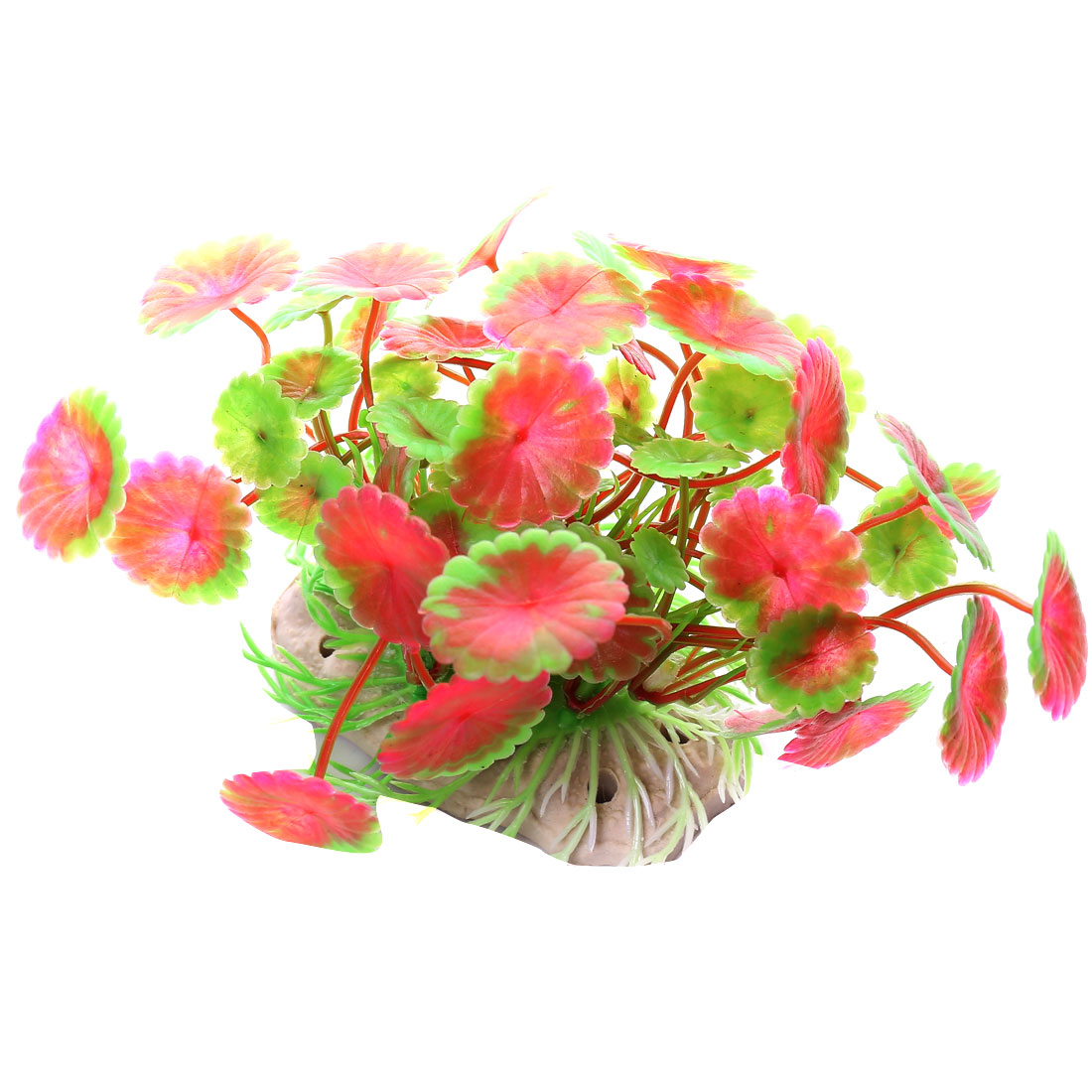 Aquarium Plastic Fish Tank Decoration Ornament Water Flower Plant 10cm Long