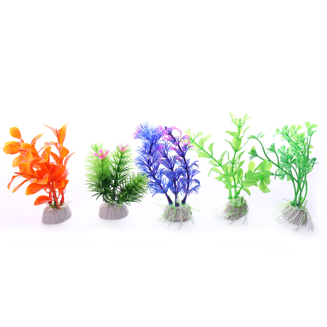 max long 11cm 5 pieces multi color small Aquarium Plastic Plants