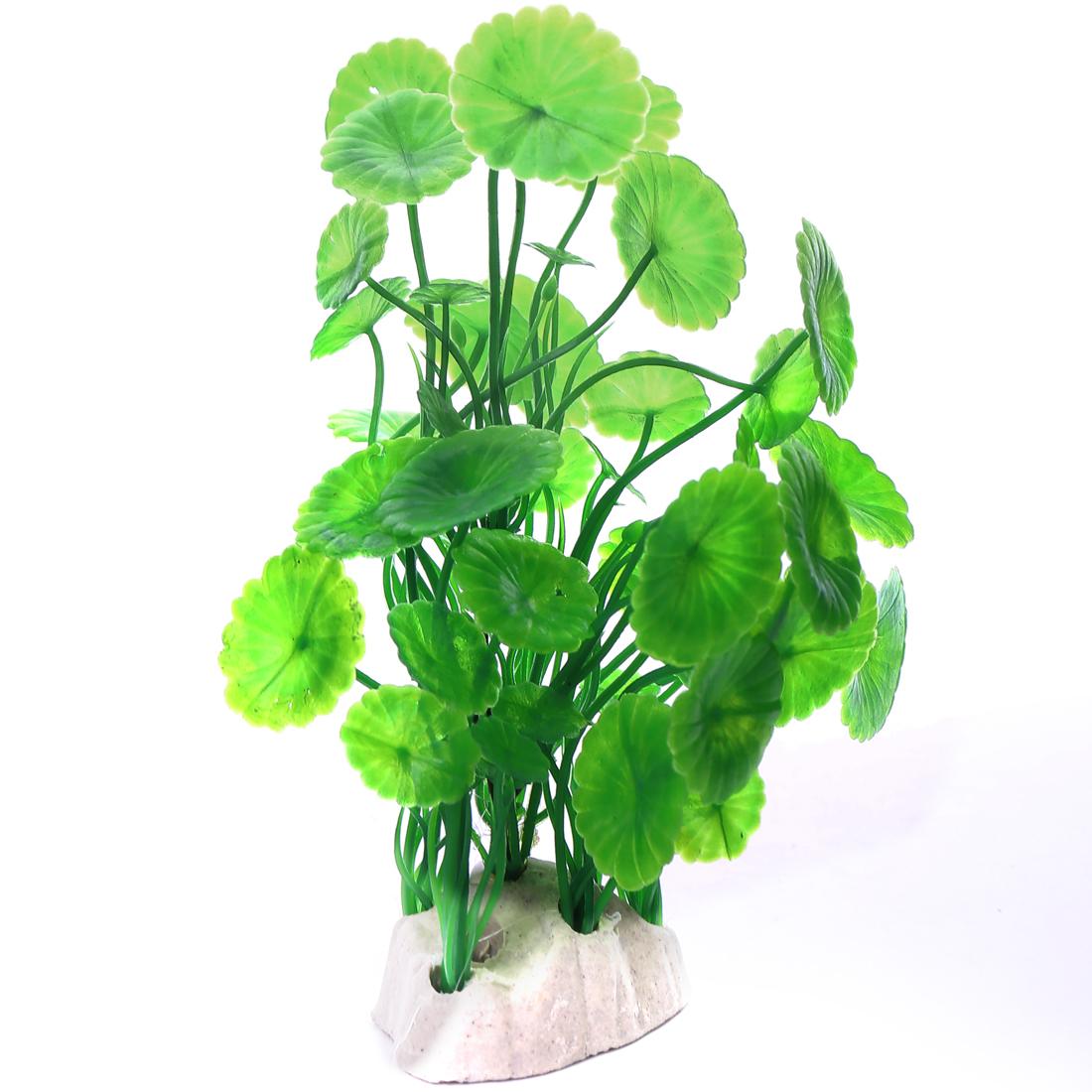 max 15cm long green leaf Aquarium Plants Fish Tank Plastic Decoration