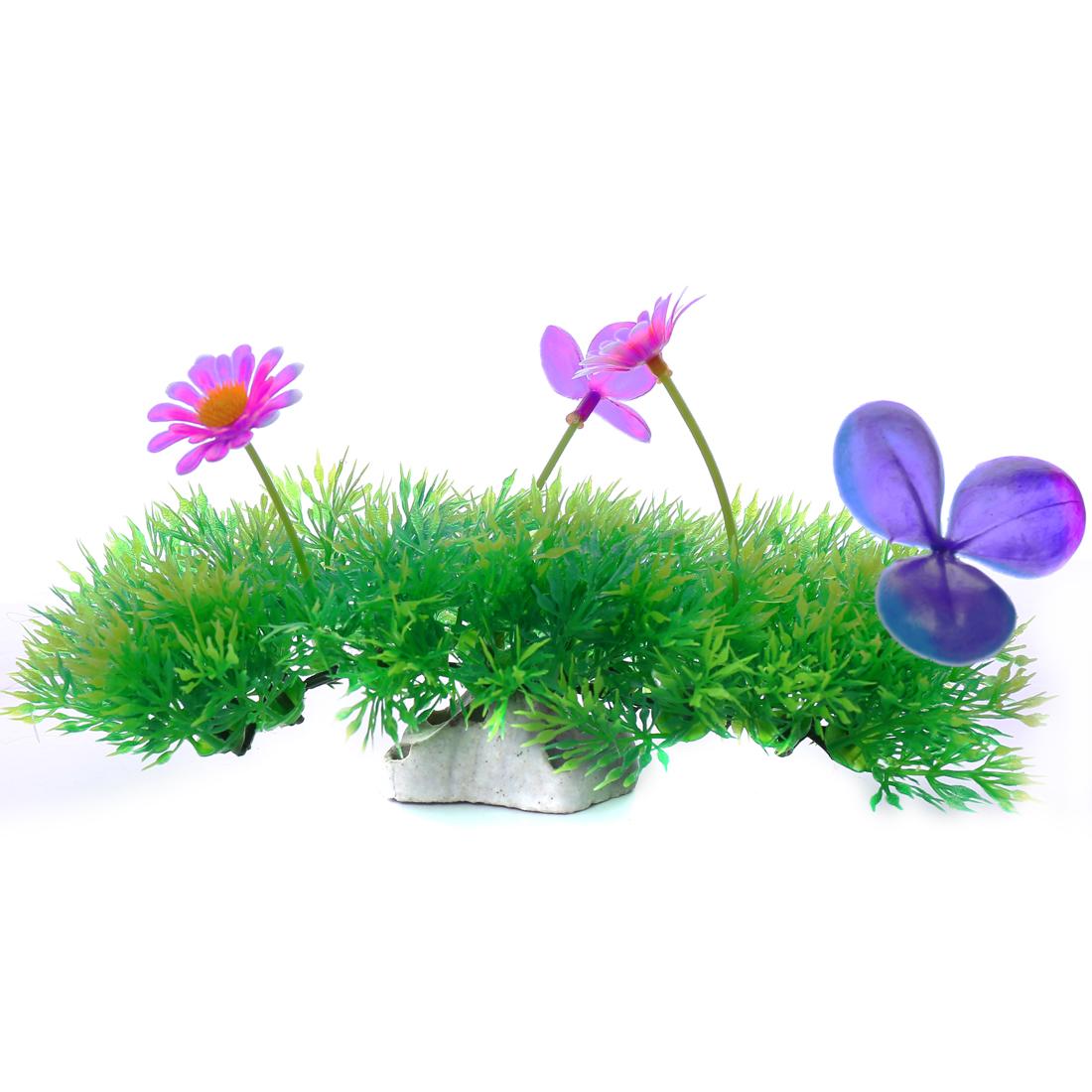 Green Lawn clorful Flower Aquarium Plastic Plants Fish Tank Ornament