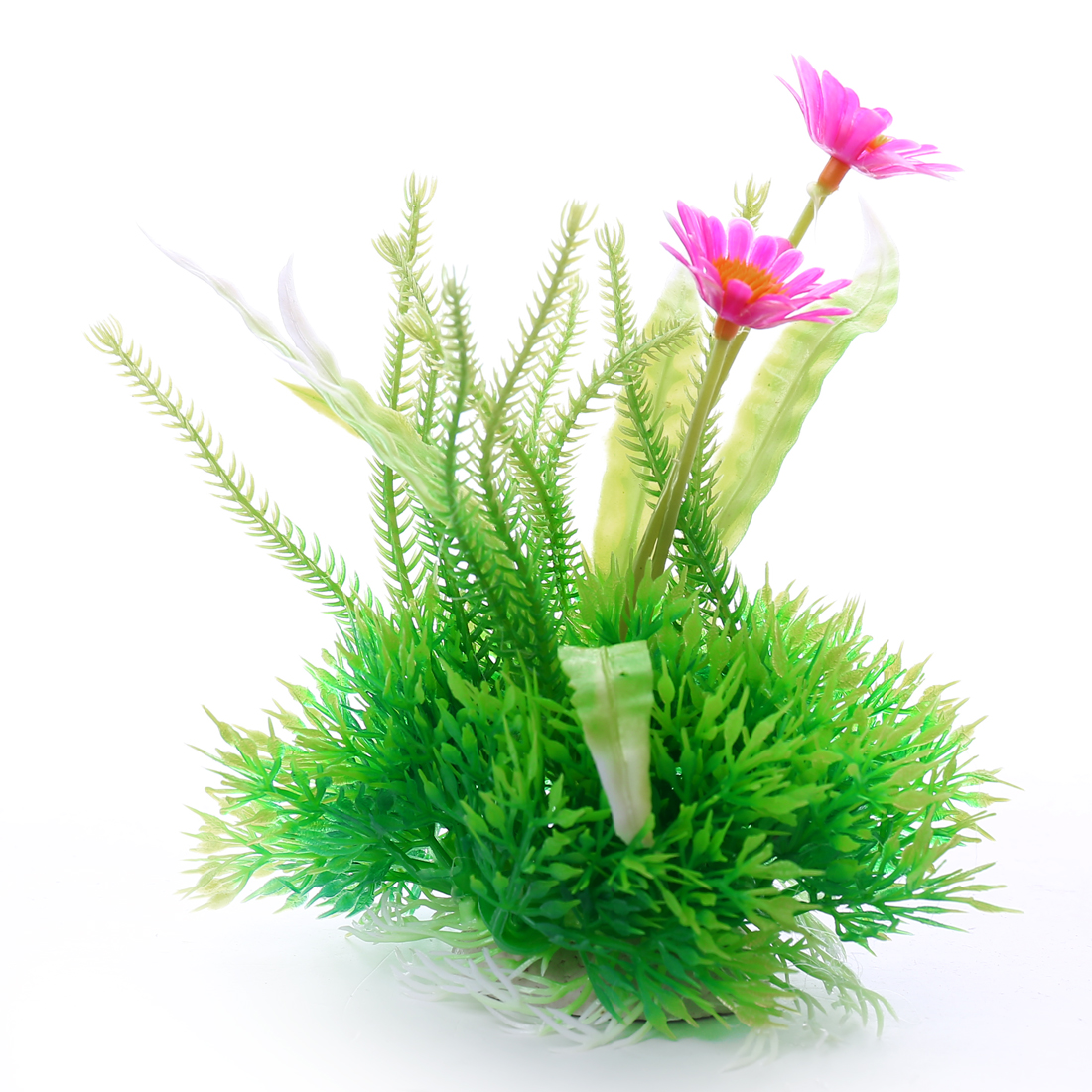 Max long 14cm Grass Leaf Flower Aquarium Plastic Plants Fish Tank Ornament