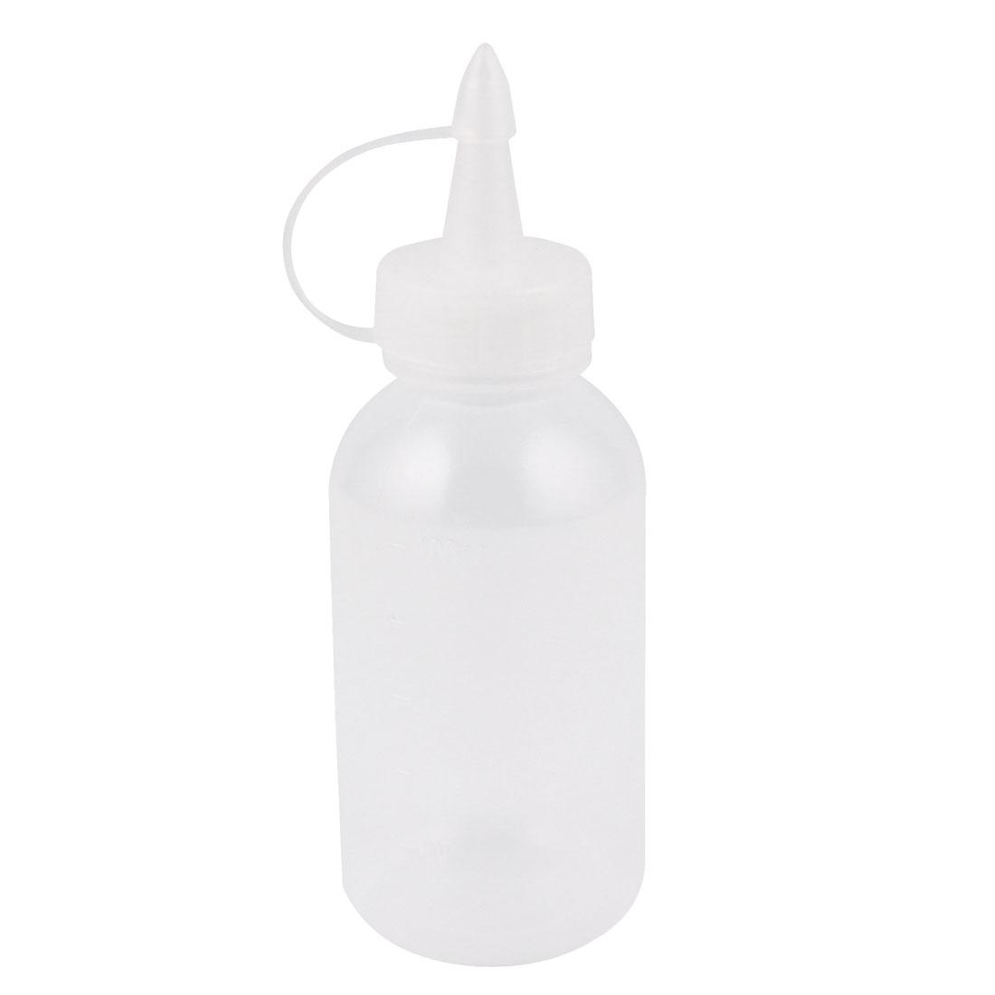 100ml Industrial Clear Plastic Glue Gel Oil Squeeze Bottle Dispenser 5pcs