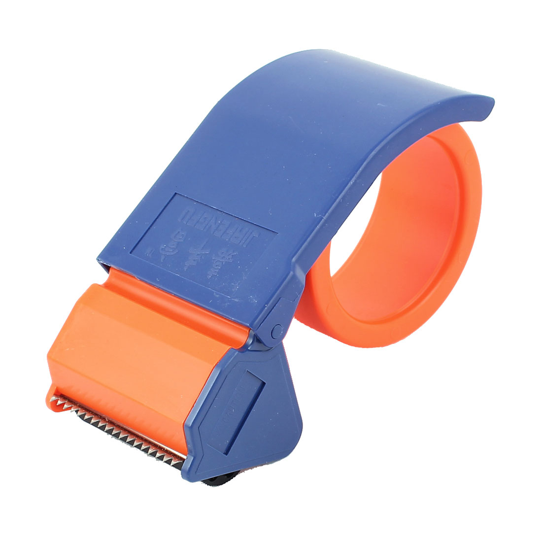 Plastic Packing Packaging Handheld Roller Tape Dispenser Blue Orange