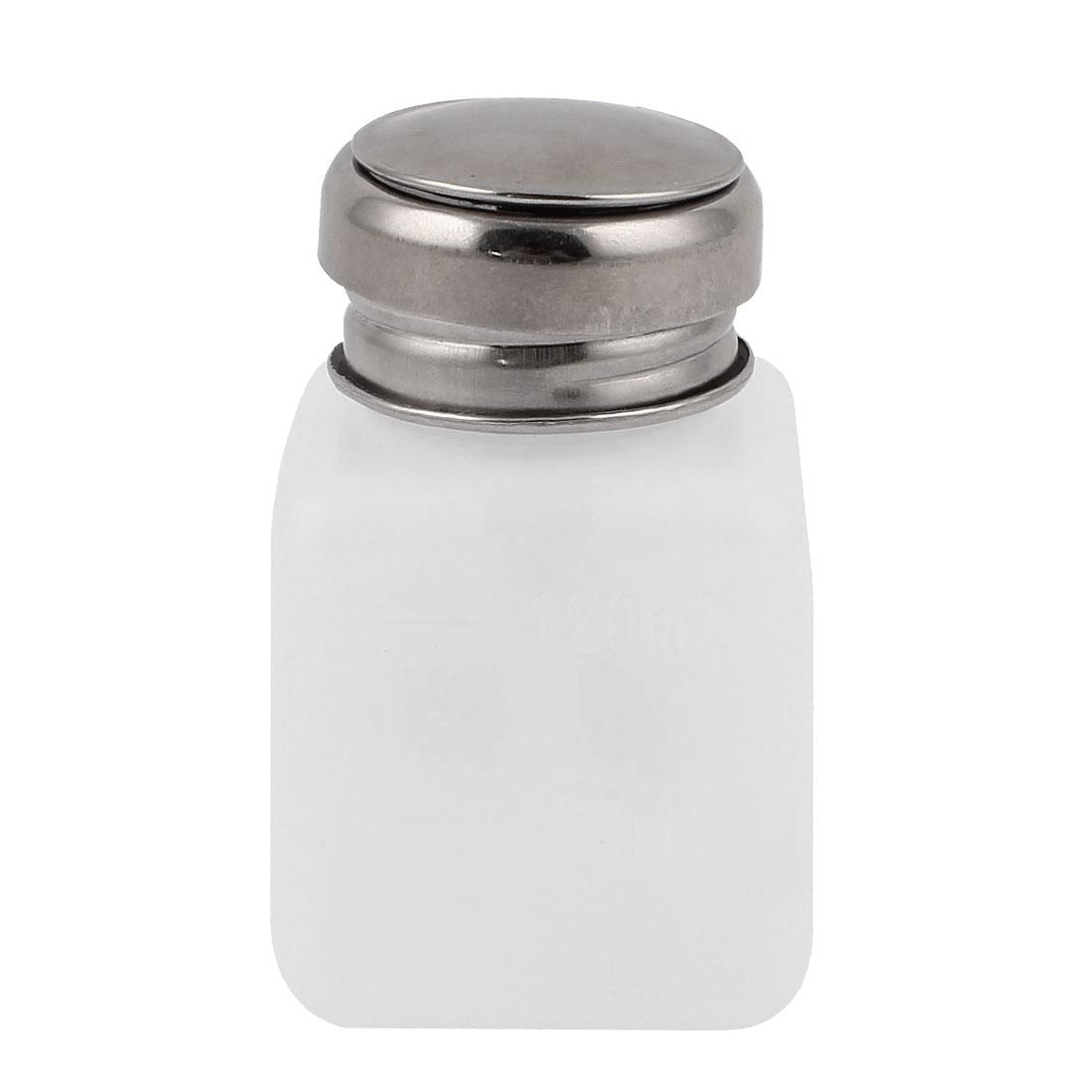 120ml Nail Polish Remover Liquid Alcohol Press Pumping Dispenser Bottle