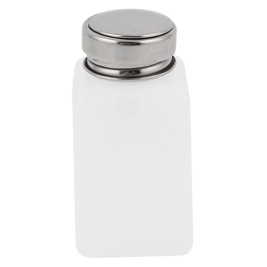 180ml Nail Polish Remover Liquid Alcohol Press Pumping Dispenser Bottle