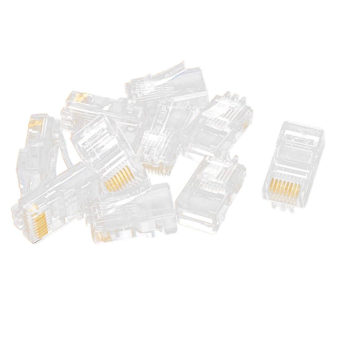 10 Pcs RJ45 Network Cable Modular Cat5 CAT5e 8P8C Connector End