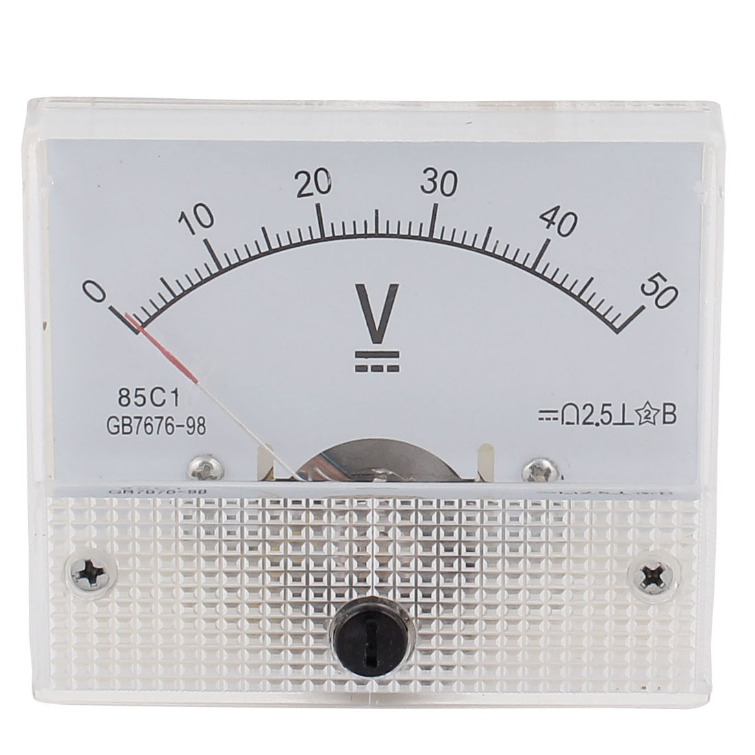 85C1 Class 2.5 Accuracy DC 0-50V Accurate Analog Voltmeter Volt Meter White