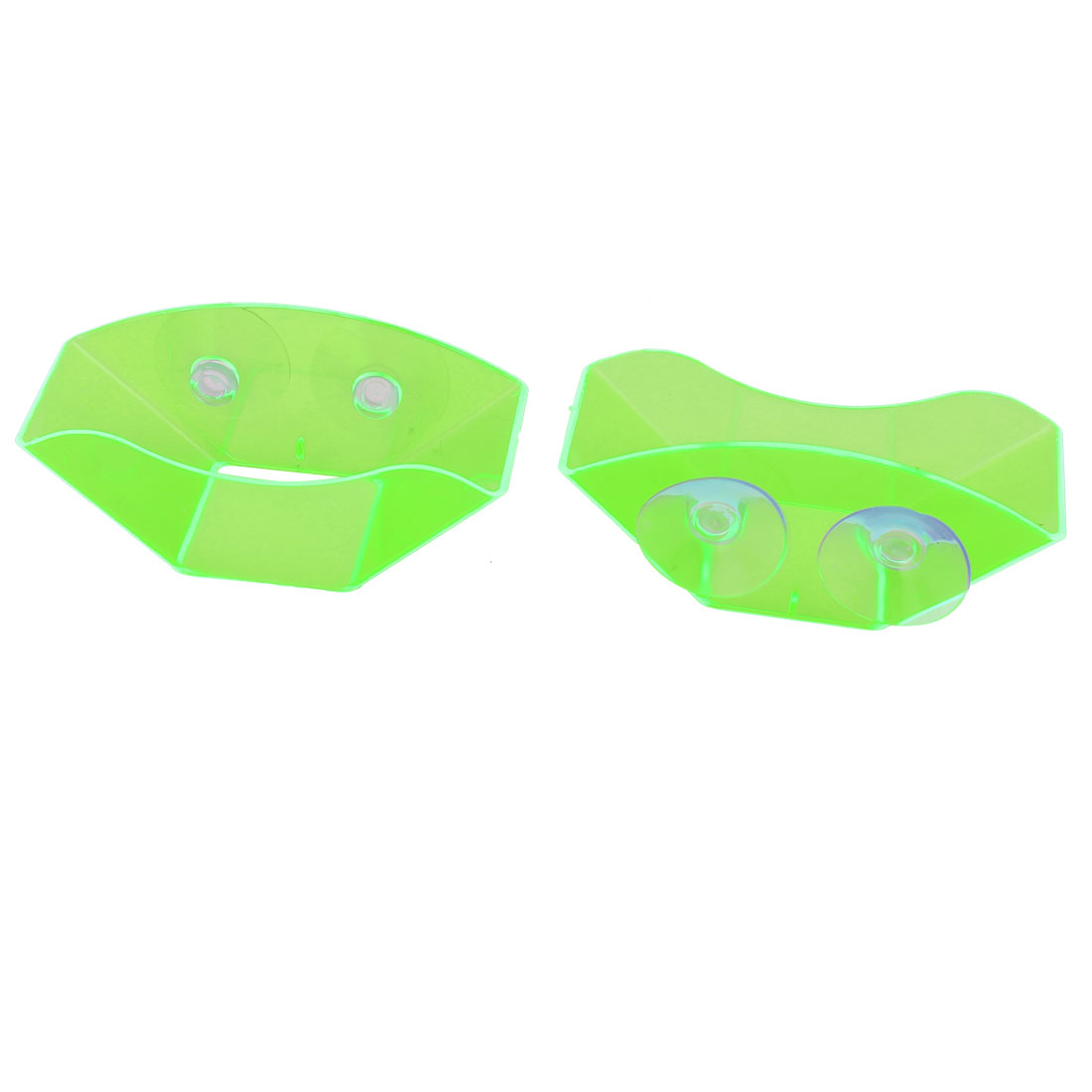 Suction Cup Multi-purpose Sink Shelf Sponge Soap Drain Rack Storage 2pcs Green