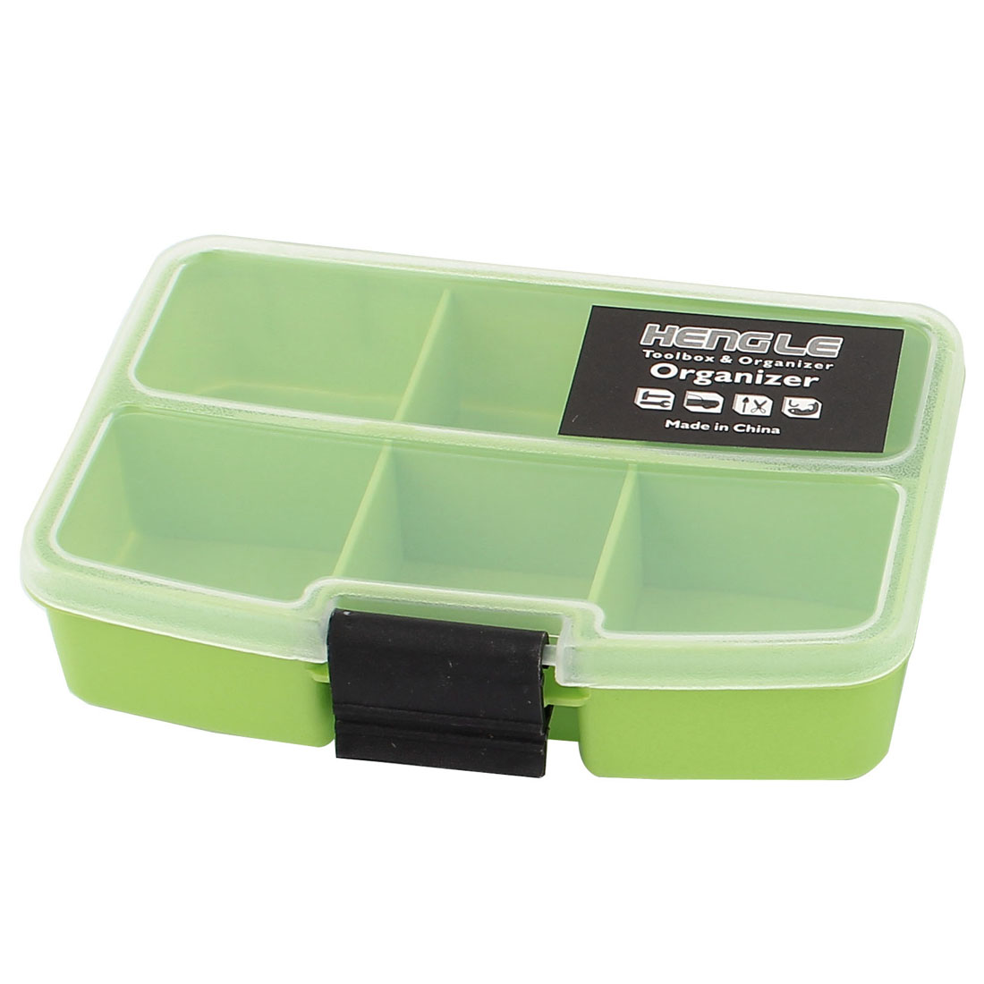 Fishing Tool Jewellery Container Organizer Storage Box Case 6 Slots 2 Pcs Green