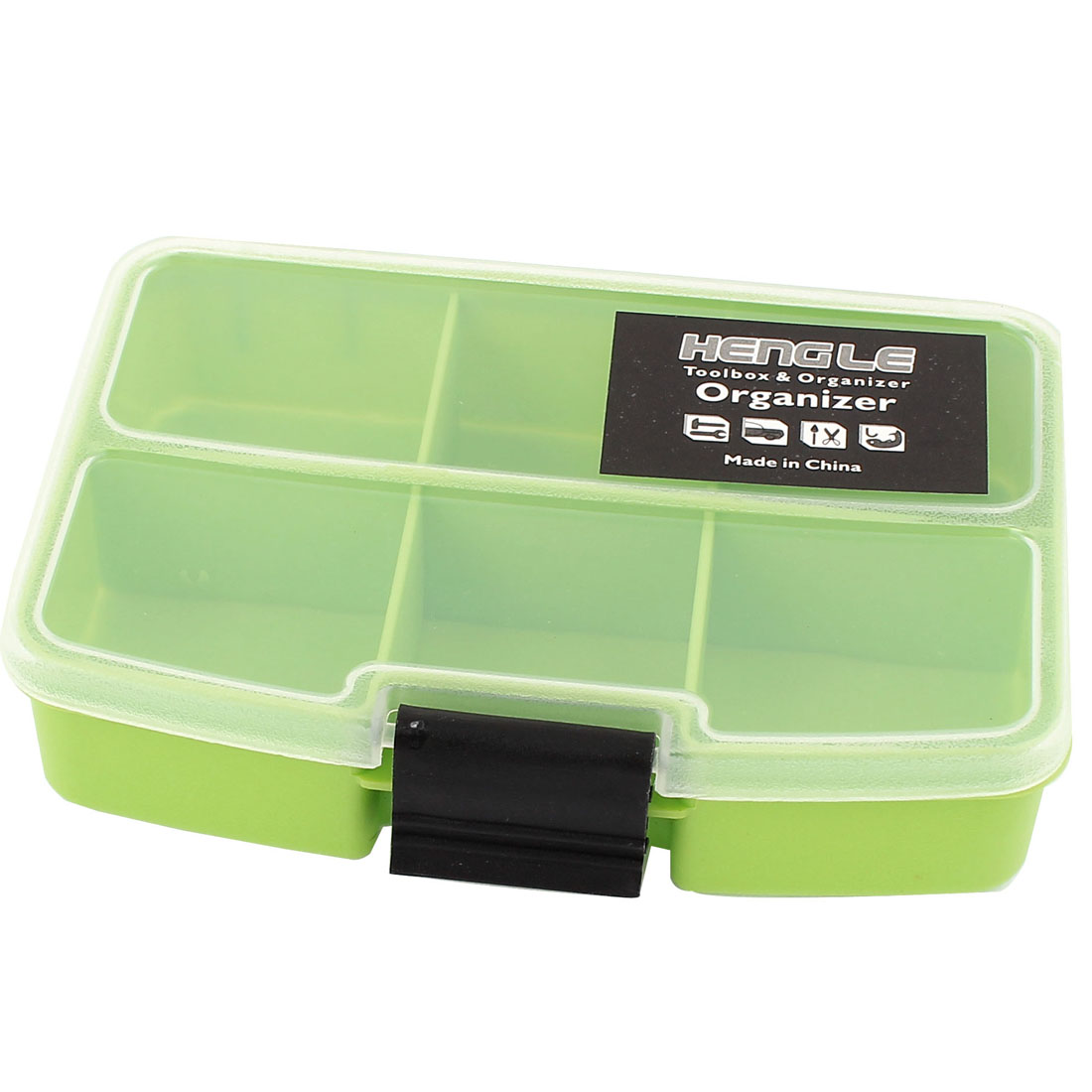 Fishing Tool Crafts Container Organizer Storage Box 6 Compartments Green