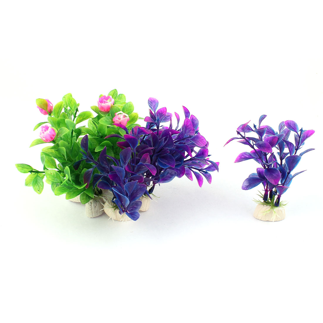8pcs Aquarium Decoration Fish Tank Simulation Flower Plants Ornaments