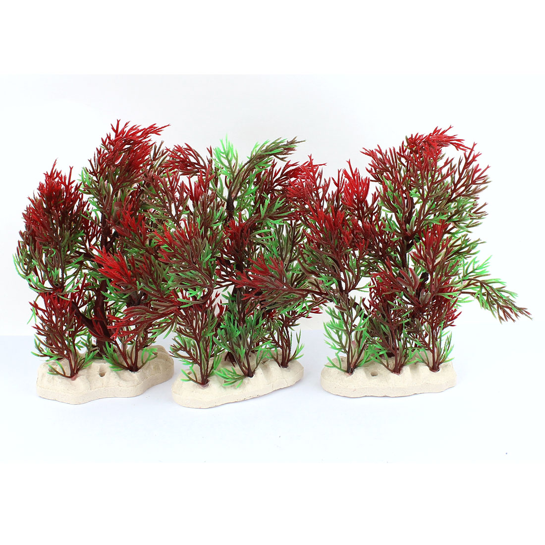 3pcs Aquarium Artificial Simulation Flower Grass Plants Fish Tank Ornaments