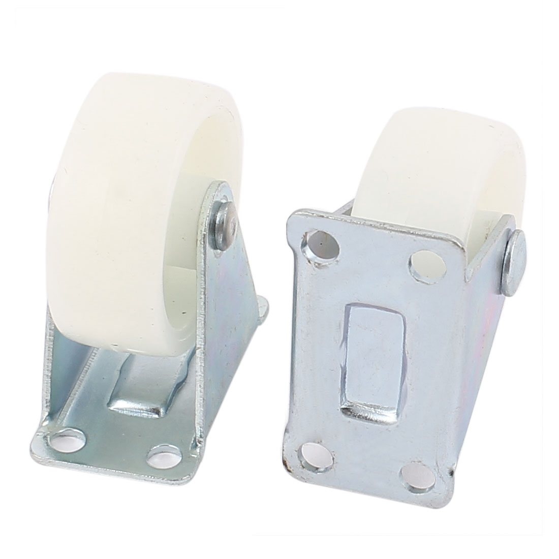 """Office Chair Furniture Trolley Carts 1.5"""" PP Wheel Top Plate Fixed Caster 2pcs"""