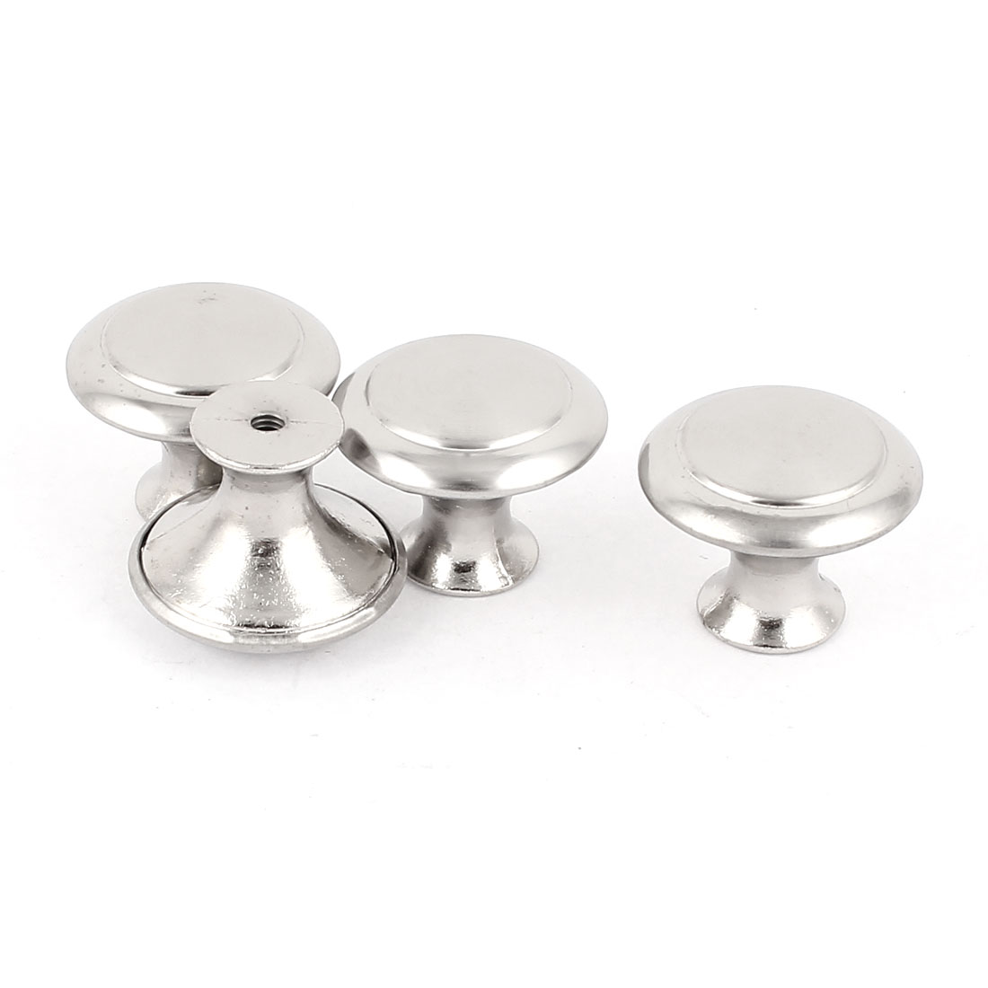 Cabinet Cupboard Drawer Round 27mm Dia Metal Pull Handle Knob Grip Hardware 4pcs