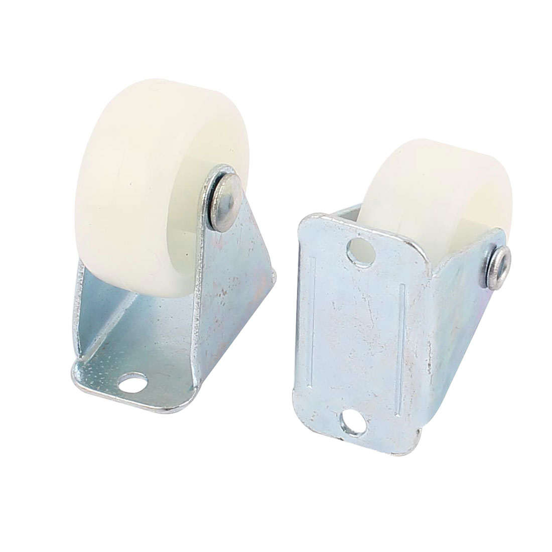 "Office Chair Furniture Trolley 1.2"" 30mm PP Wheel Top Plate Fixed Caster 2pcs"