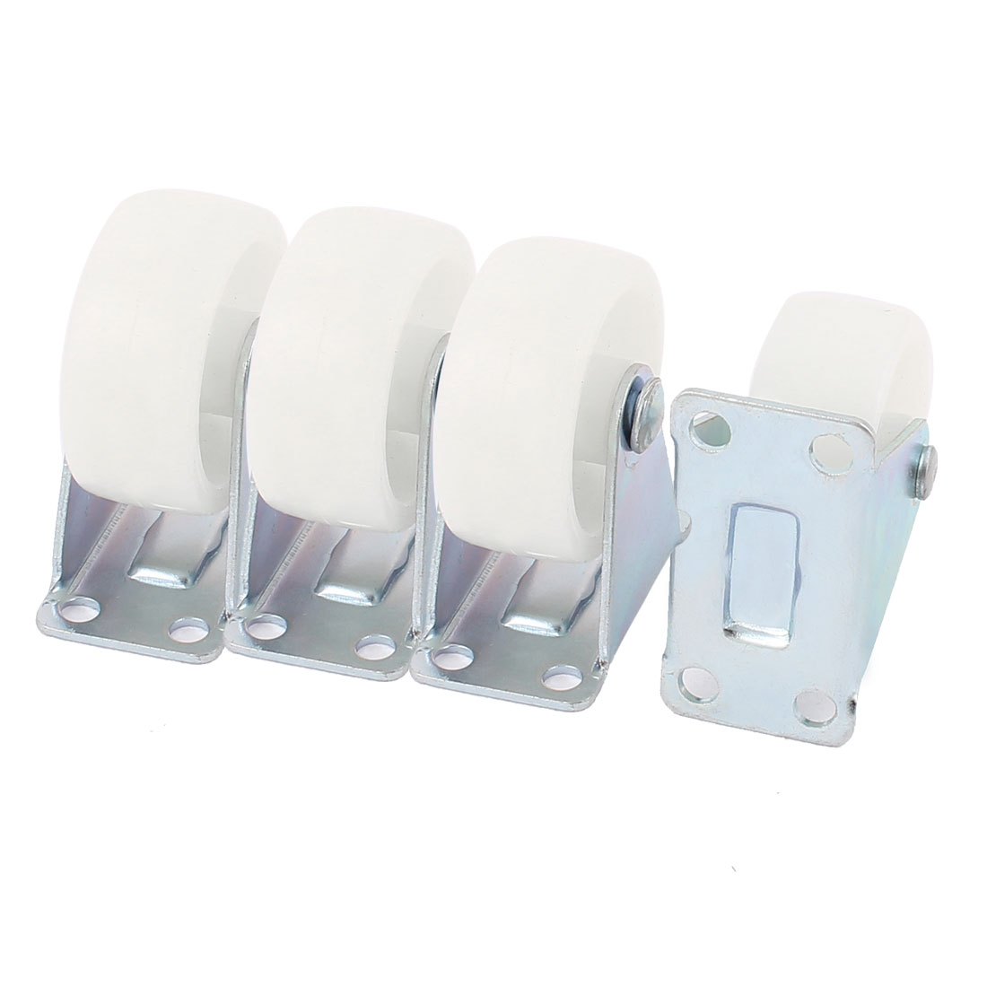 "Office Chair Furniture Trolley Carts 1.5"" PP Wheel Top Plate Fixed Caster 4pcs"