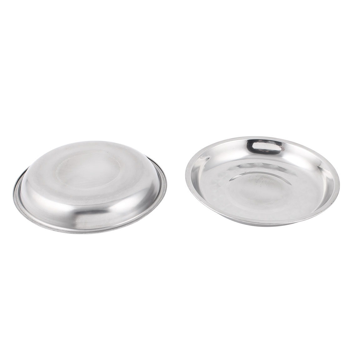 Stainless Steel Kitchen Restaurant Food Water Dishes Bowl 2pcs