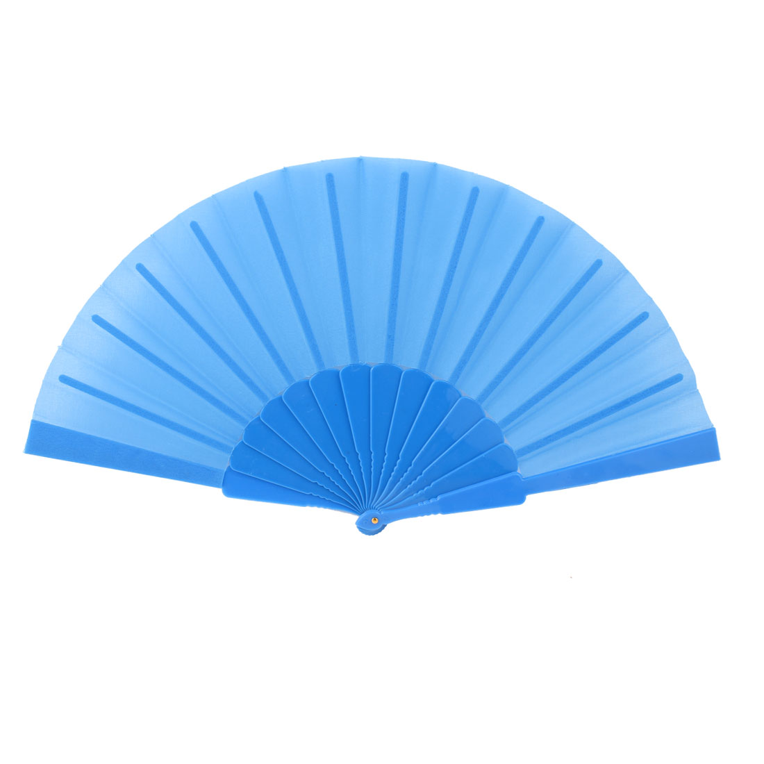 Plastic Chinese Style Foldable Handheld Hand Fan Party Gift Blue