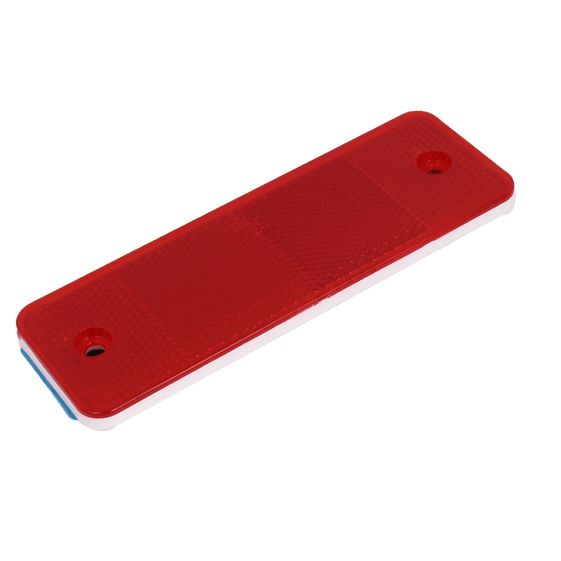 Rectangle Adhesive LED Car Light Reflector Stop Marker Blue Red