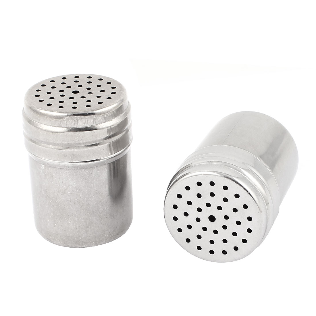 "Stainless Steel Cylindrical Toothpick Holder Container Dispenser 3"" x 2"" 2pcs"