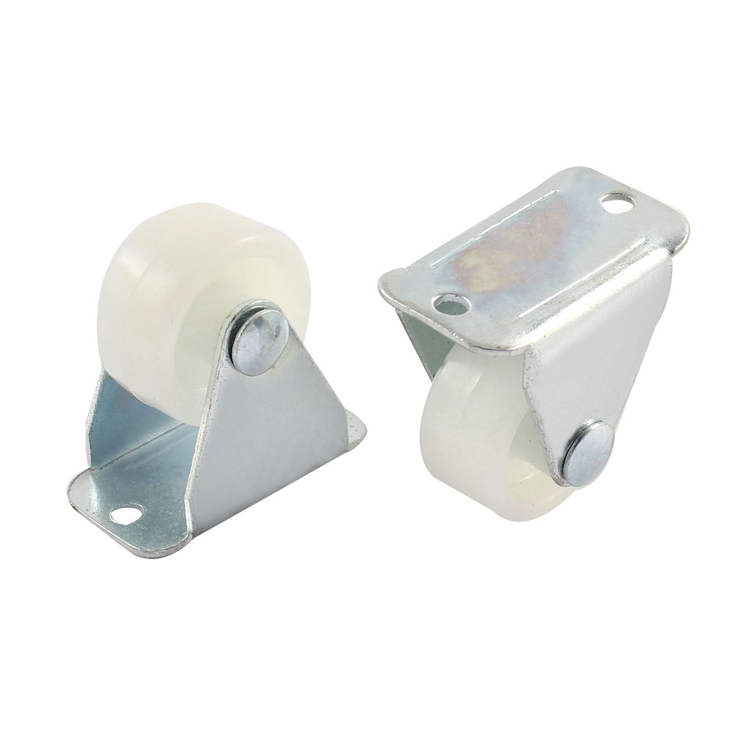 Shopping Trolley Rectangle Plate Fixed Universial Caster Wheels 2 Pcs