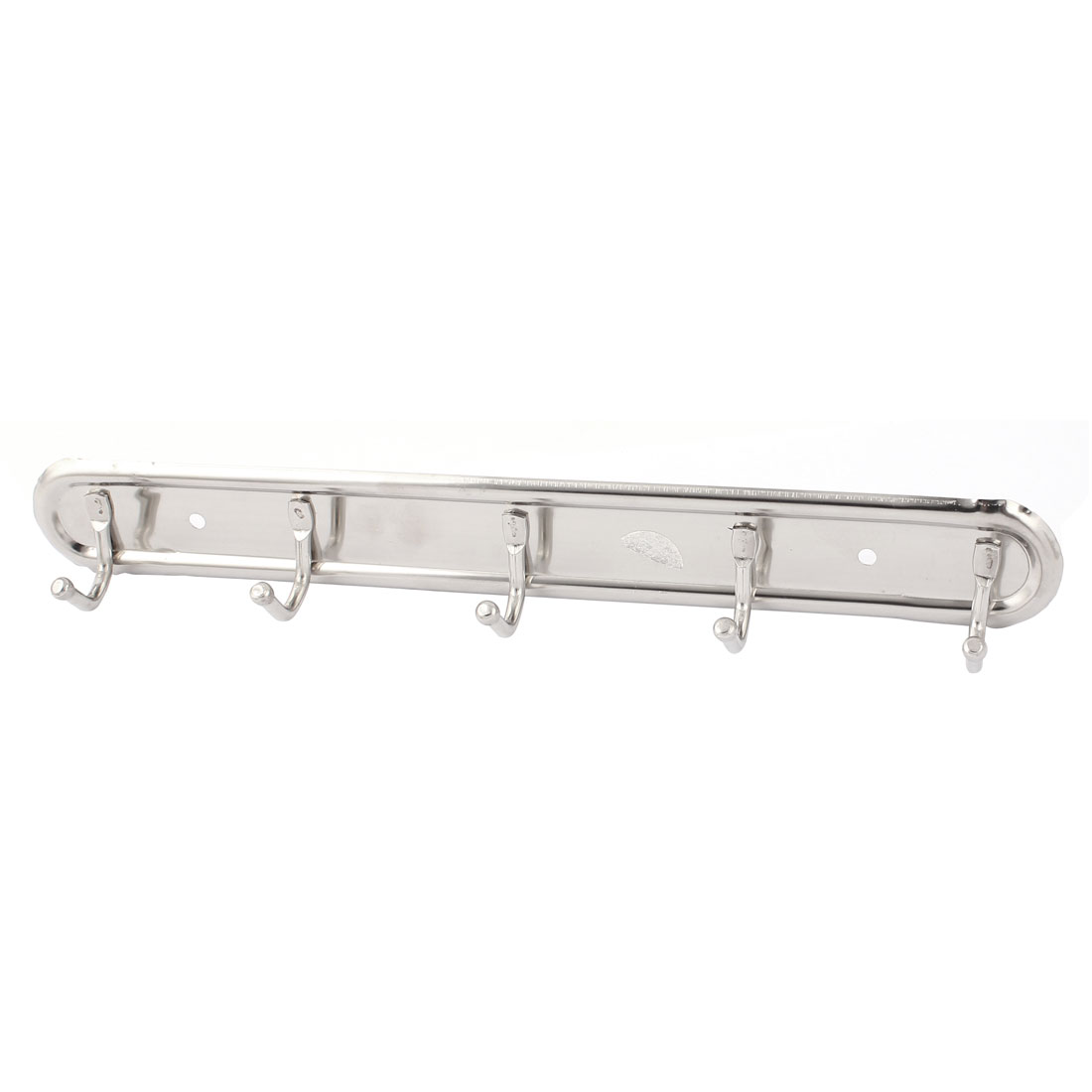 Kitchen Bathroom Wall Mounted Stainless Steel 5 Hooks Towel Hanger Rack