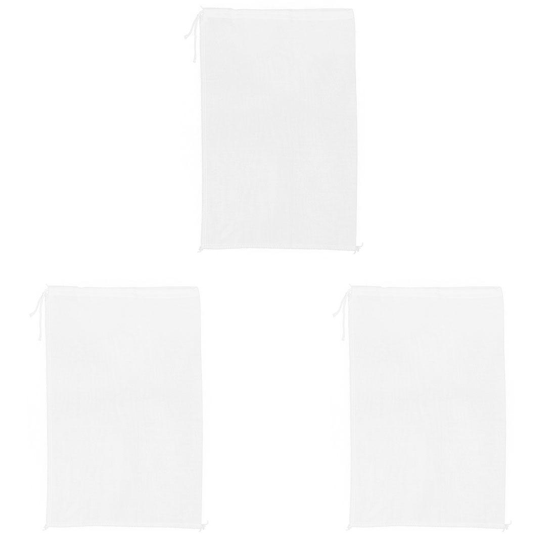 3pcs Cotton Blends Food Mesh Strainer Soup Drainer Filter Bags 43cm x 29cm