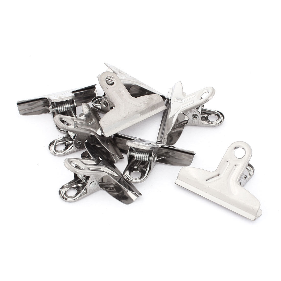 "School Office Stainless Steel File Paper Ticket Binder Clips Clamp 2"" 8pcs"