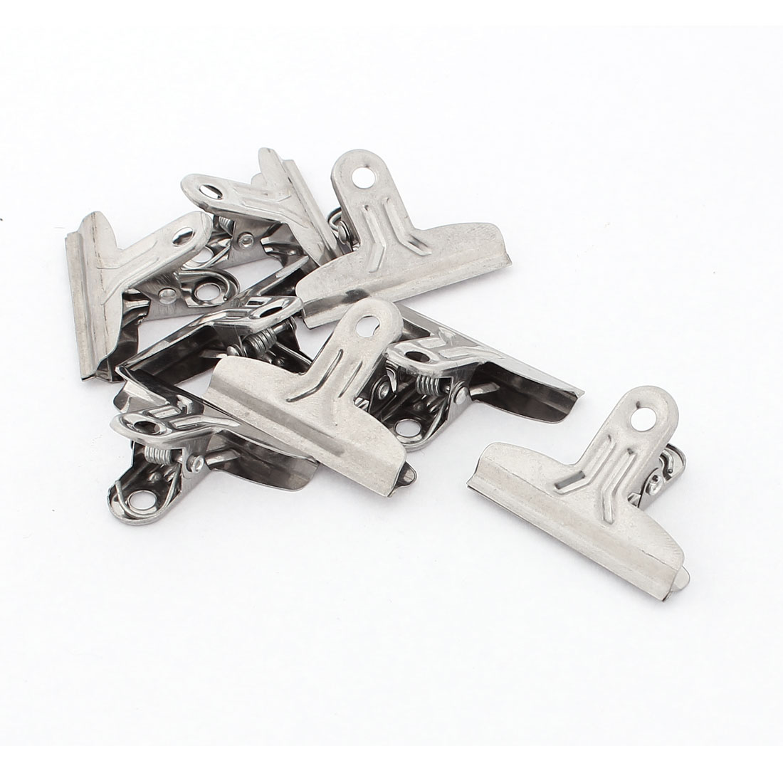"School Office Stainless Steel File Paper Ticket Binder Clips Clamp 1.5"" 8pcs"