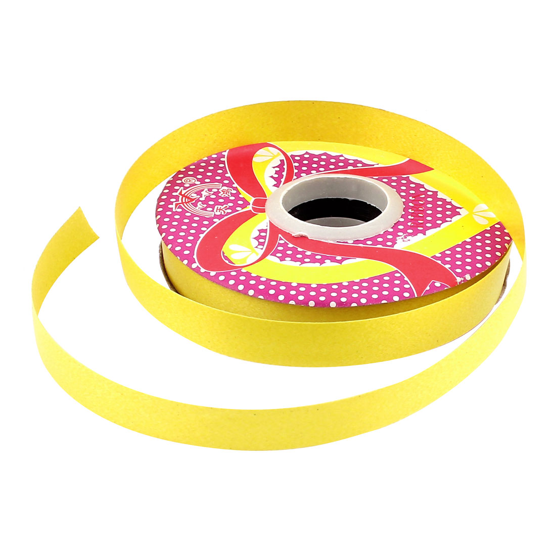 1/2 Inch Wide Polyester Double Face Satin Solid Ribbon Roll 30M 33 Yard Yellow
