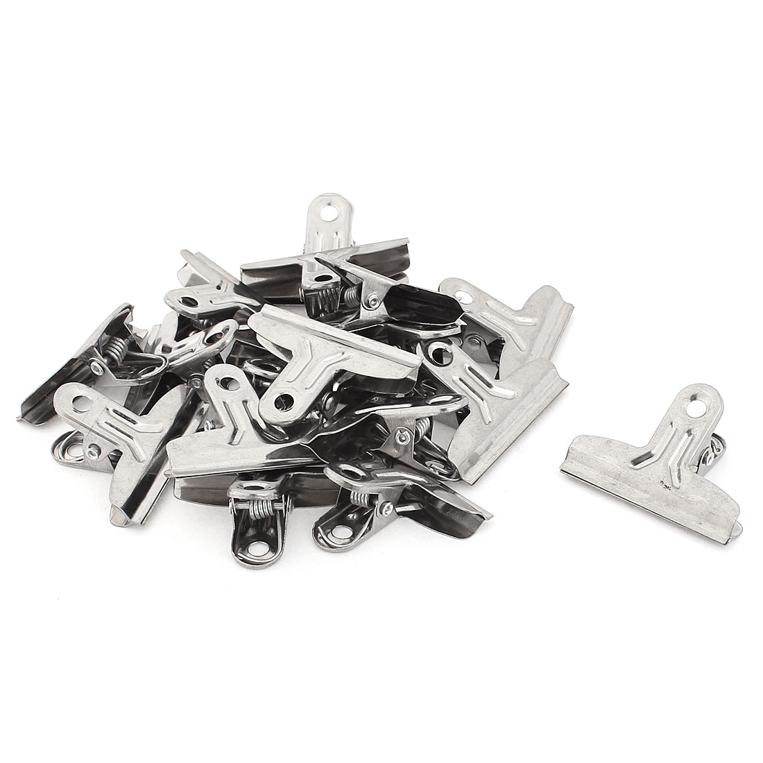 17pcs Metal Spring Loaded Grip File Binder Clips Tickets Paper Clamps