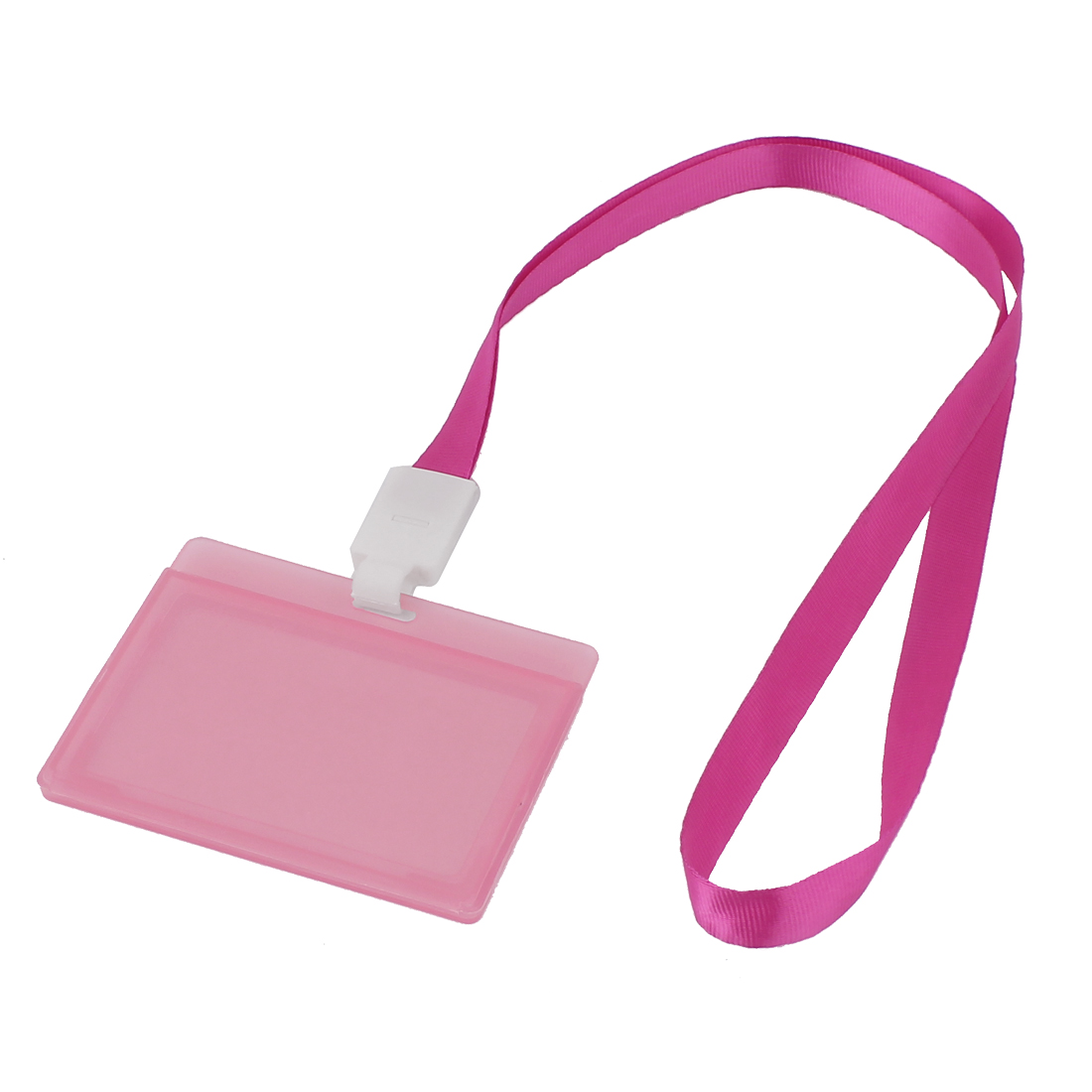 Plastic Hanging Name Credit ID Card Badge Holder Case Protector Cover