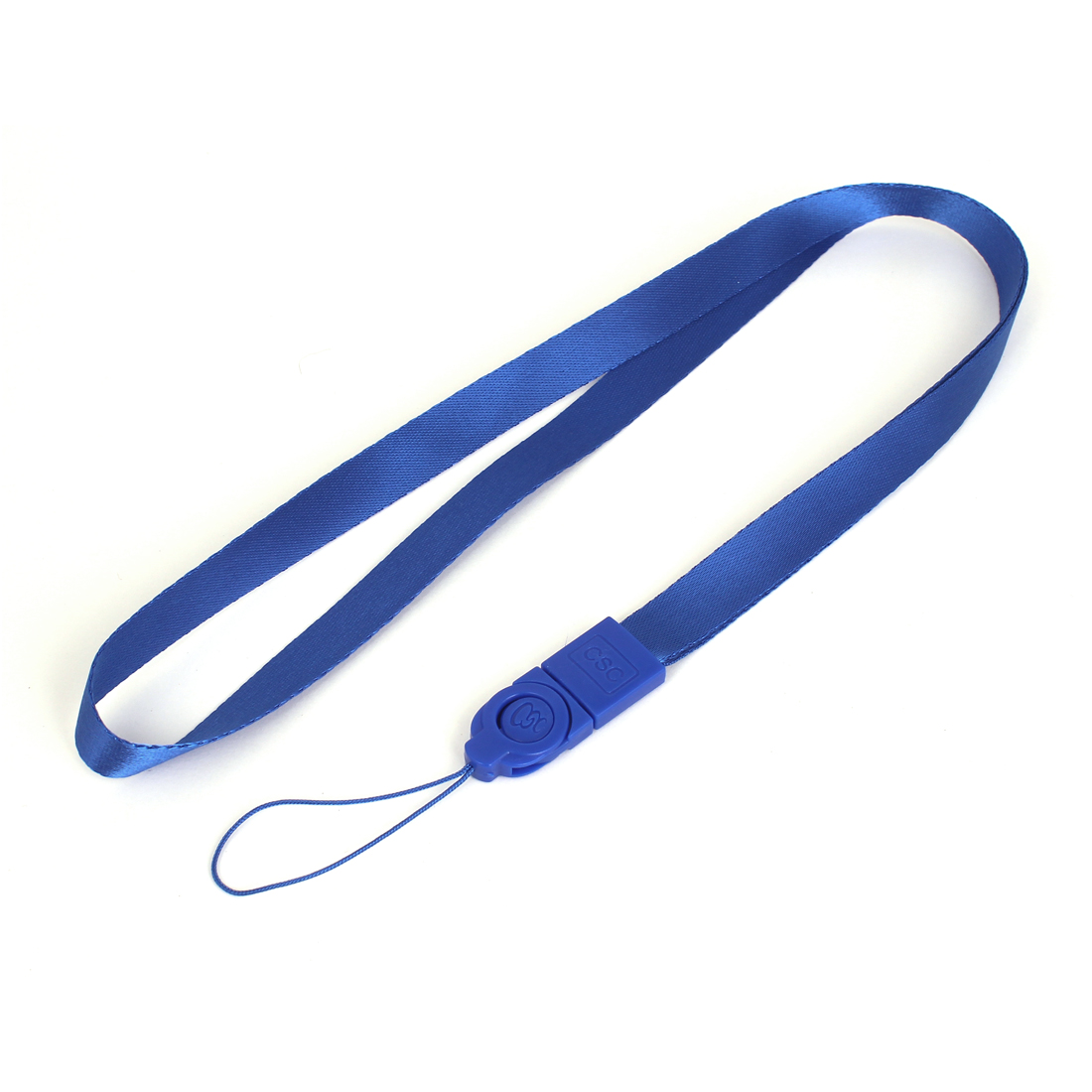 Mobile Cell Phone Camera ID Card School Badge Neck Lanyard Strap Blue